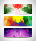 Triangular banners Royalty Free Stock Photography