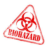 Triangular Biohazard Stamp Stock Photos