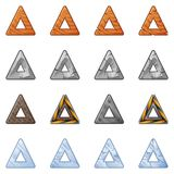 Triangular Blocks For Physics Game 2 Stock Photos