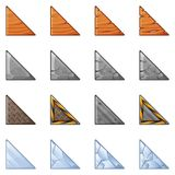 Triangular Blocks For Physics Game 1 Stock Photography