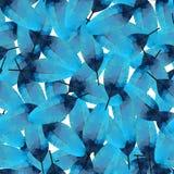 Triangular blue feather on white background. Vector pattern. Triangular blue feather on white background. tropical bird. Vector pattern Stock Photos