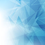 Triangular blue geometrical background Royalty Free Stock Image
