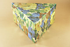 Triangular box Royalty Free Stock Image