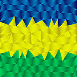 Triangular brazil background Royalty Free Stock Photography