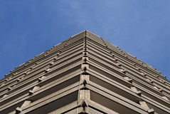 Triangular building. A construction made in 1970s. It looks like an arrow and contains lots of small trinagles Royalty Free Stock Photography