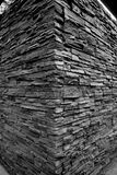 Triangular building. The stone building that is made of stone and triangular i shape Royalty Free Stock Photography