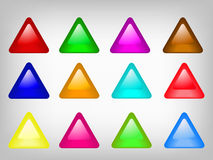 Triangular button Stock Photography