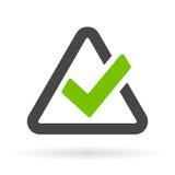 Triangular checkbox vector icon. Illustration Royalty Free Stock Photos