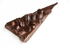 Coffee bean chocolate bark Stock Photo