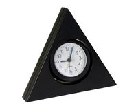 The triangular clock. On a white background Stock Image