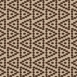 Triangular coffee seamless pattern 5. Decorative seamless pattern with coffee grains in the form of a triangle Stock Image