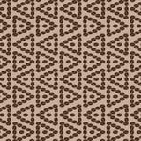 Triangular coffee seamless pattern 5. Decorative seamless pattern with coffee grains in the form of a triangle royalty free illustration