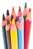 Triangular color pencils Stock Images
