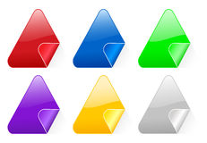 Triangular color stickers 2 Stock Photo