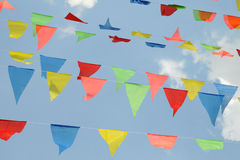 Triangular Colorful Flags Stock Image