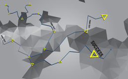 Triangular desgreñada geométrico fotos de archivo