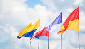 Triangular flags Royalty Free Stock Images