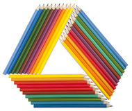Triangular frame Stock Image