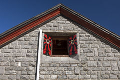 Triangular gable of a house Royalty Free Stock Photo