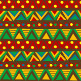 Triangular geometric pattern in ethnic style with folk motifs Stock Images