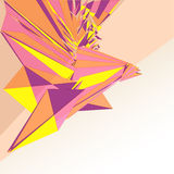 Triangular graphic structure with textspace vector. Illustration Stock Photos