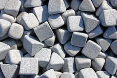 Triangular grey stones Royalty Free Stock Image
