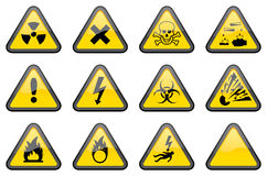 Triangular Hazard Signs Royalty Free Stock Photo