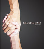 Triangular hold hands,help sign. Vector Royalty Free Stock Photo