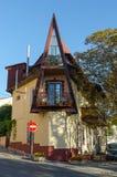 Triangular house in Alushta. The picturesque house in the historic center of Alushta. Ukraine, Crimea royalty free stock photo