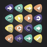 Triangular icons with arrows Royalty Free Stock Images