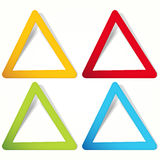 Triangular Labels. Royalty Free Stock Photography