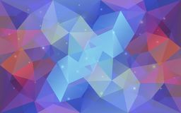 Triangular Light Colorful Texture. Stock Image