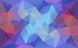 Triangular light colorful texture. Stock Image