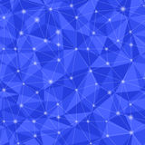 0371 - triangular light. Geometric seamless pattern  from triangles. Blue vector illustration Royalty Free Stock Photography
