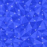 0371 - triangular light. Geometric seamless pattern from triangles. Blue vector illustration stock illustration