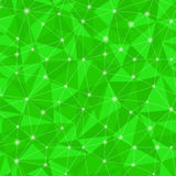 0371 - triangular light simless. Geometric seamless pattern  from triangles. Green vector illustration royalty free illustration