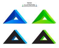 Triangular logo set. Triangle technology company symbol design set. eps10 vector illustration Stock Images