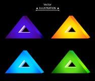 Triangular logo set. Triangle technology company symbol design set. eps10 vector illustration Stock Image
