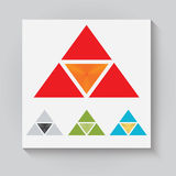 The triangular logo Stock Image