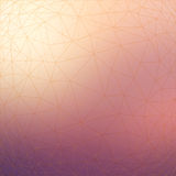 Triangular low poly style geometric network pattern on blurred background Stock Photos