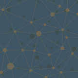Triangular low poly style geometric network pattern on dark background Royalty Free Stock Photography