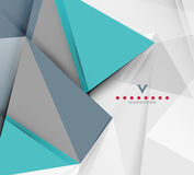 Triangular modern abstract background Stock Photo