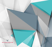 Triangular modern abstract background Royalty Free Stock Images