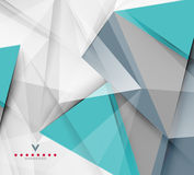 Triangular modern abstract background Stock Images