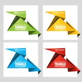 Triangular origami angle speech bubble. Web stickers. Price tag template for catalog with space for text. Triangular origami angle speech bubble. Origami royalty free illustration