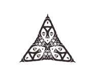Triangular ornament set Stock Photography