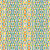 Triangular pattern decorated with orange. Abstract background  pattern of green triangles with another green triangle inside each one and decorated with tiny Royalty Free Stock Photography