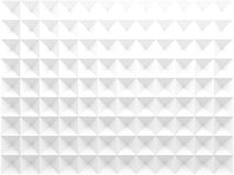 Triangular pattern, front view. 3d render. Abstract geometric background with white triangular relief pattern, front view. 3d render illustration Royalty Free Stock Image