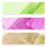Triangular pattern web footer collection Royalty Free Stock Photography