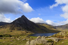 The triangular peak of Tryfan Stock Photo